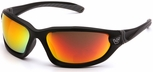 Venture Gear Ocoee Safety Sunglasses with Black Frame and Sky Red Mirror Anti-Fog Lens