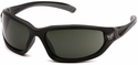 Venture Gear Ocoee Safety Sunglasses with Black Frame and Smoke Green Anti-Fog Lens