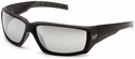 Venture Gear Overwatch Tactical Safety Sunglasses with Black Frame and Silver Mirror Anti-Fog Lens
