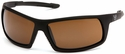 Venture Gear Stonewall Tactical Safety Sunglasses with Black Frame and Bronze Anti-Fog Lens