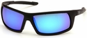 Venture Gear Stonewall Tactical Safety Sunglasses with Black Frame and Ice Blue Mirror Anti-Fog Lens