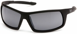 Venture Gear Stonewall Tactical Safety Sunglasses with Black Frame and Silver Mirror Anti-Fog Lens