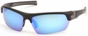 Venture Gear Tensaw Safety Sunglasses with Black Frame and Ice Blue Mirror Anti-Fog