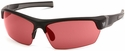 Venture Gear Tensaw Safety Sunglasses with Black Frame and Vermilion Anti-Fog Lens