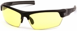 Venture Gear Tensaw Safety Sunglasses with Black Frame and Yellow Anti-Fog Lens