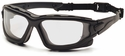 Venture Gear Wolfhound Tactical Safety Glasses with Black Frame and Clear Anti-Fog Lens