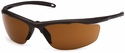 Venture Gear Zumbro Safety Sunglasses with Bronze Frame and Bronze Anti-Fog Lens