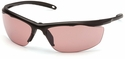Venture Gear Zumbro Safety Sunglasses with Bronze Frame and Vermilion Anti-Fog Lens