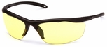 Venture Gear Zumbro Safety Sunglasses with Bronze Frame and Yellow Anti-Fog Lens