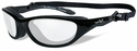 Wiley X AirRage Safety Glasses with Gloss Black Frame and Clear Lens