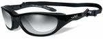 Wiley X AirRage Safety Sunglasses with Gloss Black Frame and Light Adjusting Lens
