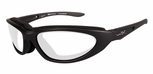 Wiley X Blink Safety Glasses with Matte Black Frame and Clear Lens