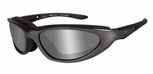 Wiley X Blink Safety Sunglasses with Aluminum Gloss Frame and Silver Flash Lens