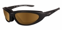 Wiley X Blink Safety Sunglasses with Matte Black Frame and Polarized Copper Lens