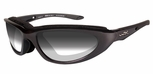 Wiley X Blink Safety Sunglasses with Metallic Black Frame and Light Adjusting Lens