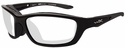 Wiley-X Brick Safety Glasses with Gloss Black Frame and Clear Lens