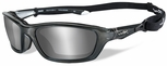 Wiley X Brick Safety Sunglasses with Crystal Metallic Frame and Silver Flash Lens