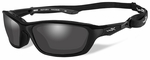 Wiley X Brick Safety Sunglasses with Gloss Black Frame and Polarized Smoke Lens
