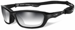 Wiley X Brick Safety Sunglasses with Metallic Black Frame and Light Adjusting Lens