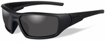 Wiley X WX Censor Black Ops Ballistic Sunglasses with Matte Black Frame and Smoke Grey Lens