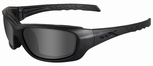 Wiley X WX Gravity Black Ops Sunglasses with Matte Black Frame and Smoke Grey Lens