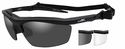 Wiley X Guard Ballistic Safety Glasses Kit with Matte Black Frame and Smoke Grey and Clear Lenses
