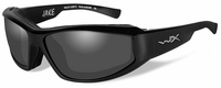 Wiley X Jake Safety Sunglasses with Gloss Black Frame and Smoke Grey Lens