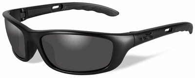 Wiley X P-17 Black Ops Safety Sunglasses with Matte Black Frame and Smoke Grey Lens