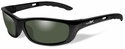 Wiley X P-17 Safety Sunglasses with Gloss Black Frame and Polarized Smoke Green Lens
