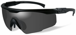 Wiley X PT-1 Ballistic Sunglasses with Black Frame and Smoke Grey Lens