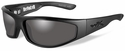 Wiley X Revolvr Black Ops Safety Sunglasses with Matte Black Frame and Smoke Grey Lens