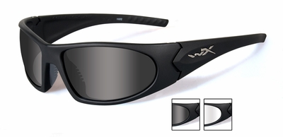 Wiley X Romer 3 Advanced Ballistic Safety Glasses Kit with Matte Black Frame and Smoke Grey and Clear Lenses