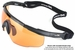 Wiley X Saber Advanced Ballistic Safety Glasses with Matte Black Frame and Light Rust Lenses