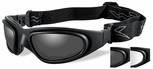 Wiley X SG-1 Ballistic Glasses/Goggles with Matte Black Frame and Anti-Fog Smoke & Clear Lenses