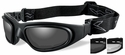 Wiley X SG-1 V-Cut Ballistic Glasses/Goggles with Matte Black Frame and Anti-Fog Smoke & Clear Lenses