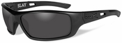 Wiley X Slay Black Ops Safety Sunglasses with Matte Black Frame and Smoke Grey Lens