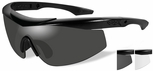 Wiley X WX Talon Ballistic Safety Glasses Kit with Matte Black Frame and Smoke and Clear Lenses
