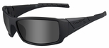 Wiley X WX Twisted Black Ops Safety Sunglasses with Matte Black Frame and Smoke Grey Lens