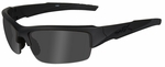 Wiley X WX Valor Black Ops Ballistic Sunglasses with Matte Black Frame and Smoke Grey Lens