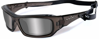 Wiley X WX Arrow Safety Sunglasses with Liquid Grey Frame and Silver Flash Lens