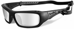 Wiley X WX Arrow Safety Sunglasses with Matte Black Frame and Clear Lens
