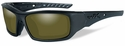 Wiley X WX Arrow Safety Sunglasses with Matte Black Frame and Yellow Polarized Lens