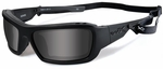 Wiley X WX Knife Black Ops Safety Sunglasses with Matte Black Frame and Grey Lens