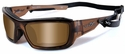 Wiley X WX Knife Safety Sunglasses with Brown Crystal Frame and Polarized Bronze Lens