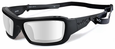 Wiley X WX Knife Safety Glasses with Matte Black Frame and Clear Lens