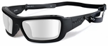 Wiley X WX Knife Safety Sunglasses with Matte Black Frame and Clear Lens