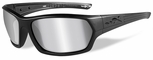 Wiley X WX Legend Safety Sunglasses with Matte Black Frame and Silver Flash Mirror Lens