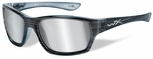 Wiley X WX Moxy Safety Sunglasses with Black Streak Frame and Silver Flash Mirror Lens