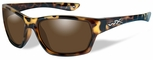 Wiley X WX Moxy Safety Sunglasses with Gloss Demi Frame and Bronze Polarized Lens