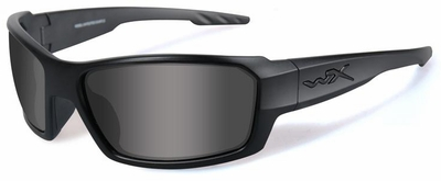 Wiley X WX Rebel Black Ops Safety Sunglasses with Matte Black Frame and Clear Lens